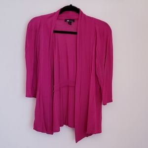 Pink open-front cardigan
